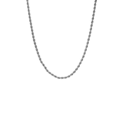 Paul Valentine Zilverkleurige Vintage Classic Twisted Ketting PVW2010-S000014 (Lengte: 43.00 cm)