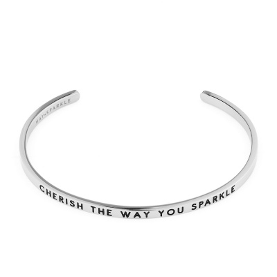 May Sparkle The Bangle Collection bracciale MS10005 (dimensione: 18.5 cm)