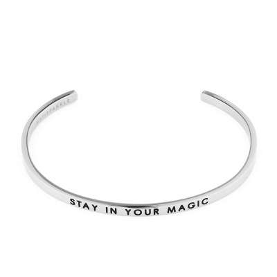May Sparkle The Bangle Collection bracciale MS10011 (dimensione: 18.5 cm)