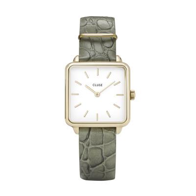 CLUSE La Tétragone Goudkleurige Alligator Horloge CW0101207016