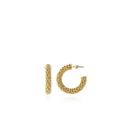 LOTT. gioielli 925 Sterling Zilveren Goudkleurige Oorbellen CLEA020-G41663