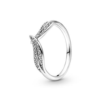 Pandora Passions Sparkling Leaves Ring 199533C01