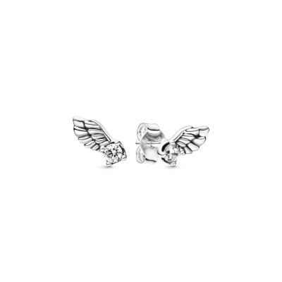Pandora Stories 925 Sterling Zilveren Angel Wing Oorbellen 298501C01
