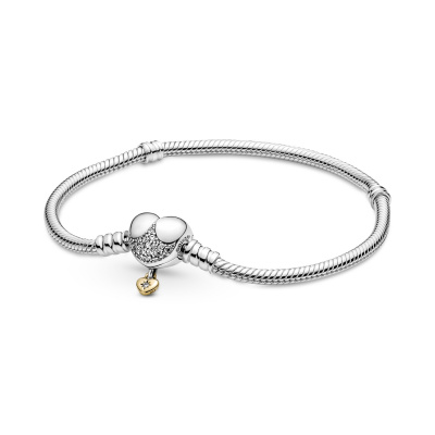 Pandora Moments Disney Heart Clasp Snake Armband 569563C01