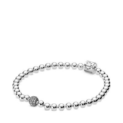 Pandora Stories bracciale 598342CZ (dimensione: 17-21 cm)