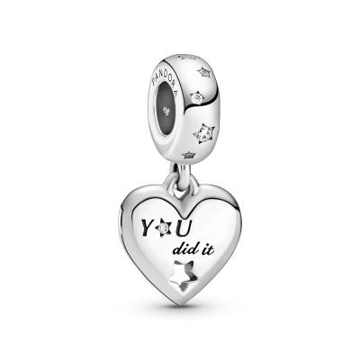Pandora Passions 925 Sterling Zilveren Congratulations Heart & Stars Dangle Bedel 799323C01