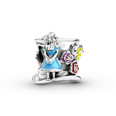 Pandora Disney x Pandora 925 Sterling Zilveren Alice in Wonderland Bedel 799348C01