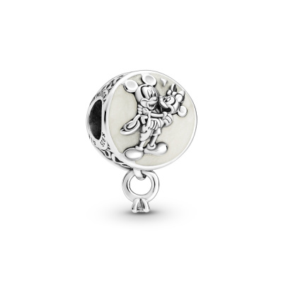 Pandora Disney 925 Sterling Zilveren Mickey Mouse Minnie Mouse Eternal Love Hanger 799395C01