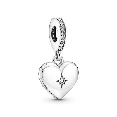 Pandora People Openable Heart Locket Bedel 799537C01