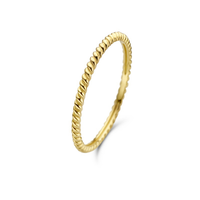 Isabel Bernard Asterope 14 Karaat Gouden Twisted Ring IB330016