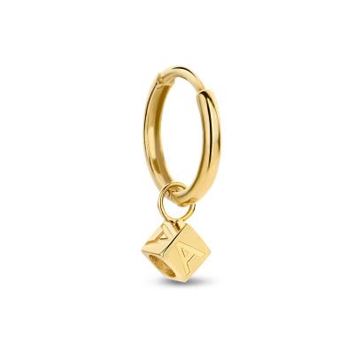 Isabel Bernard Le Carré Felie 14 Karaat Gouden Initial Enkele Creool IB360084