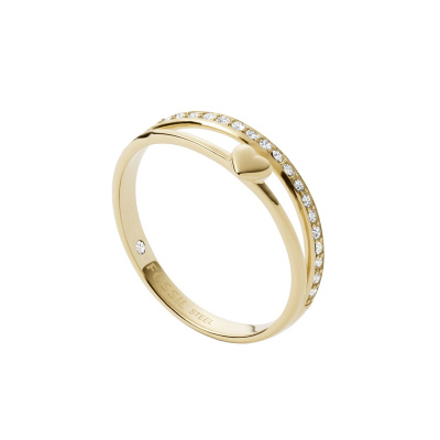 Fossil Vintage Iconic Goudkleurige Ring JF03750710
