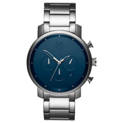 MVMT Chrono Midnight Zilverkleurig horloge MC01-SBLU (45 mm)