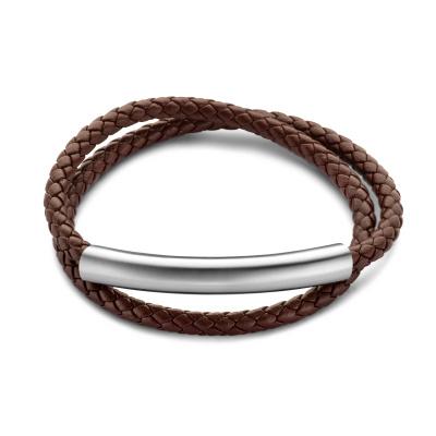 Mats Meier Dent Blanche Double Braided Armband Bruin MM320009