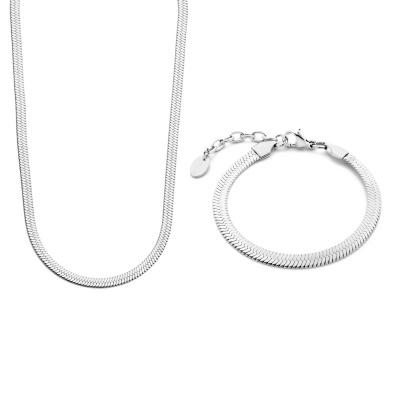 May Sparkle Sparkling Island Zilverkleurige Ketting en Armband Giftset MS90049